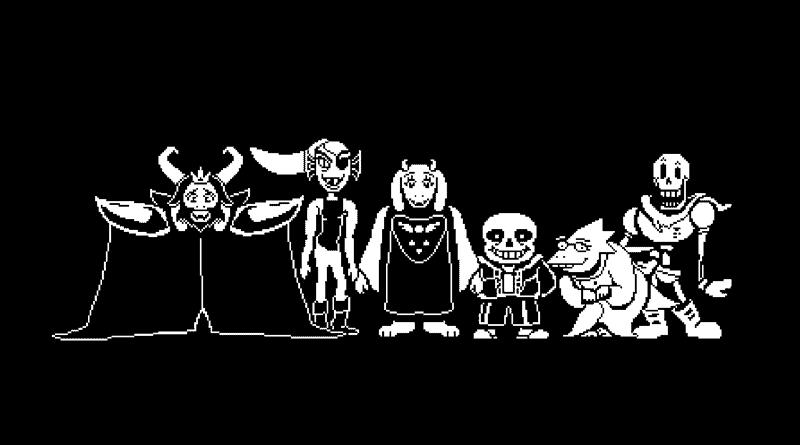 undertale - 6 jogos em cores branco e preto