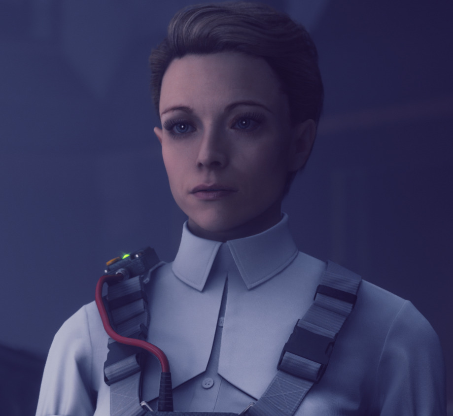 Emily Pope, membro do Setor de Pesquisa