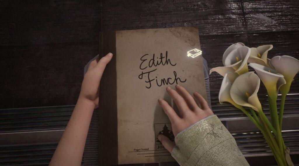 O diário de Edith Finch é aberto logo no começo do jogo