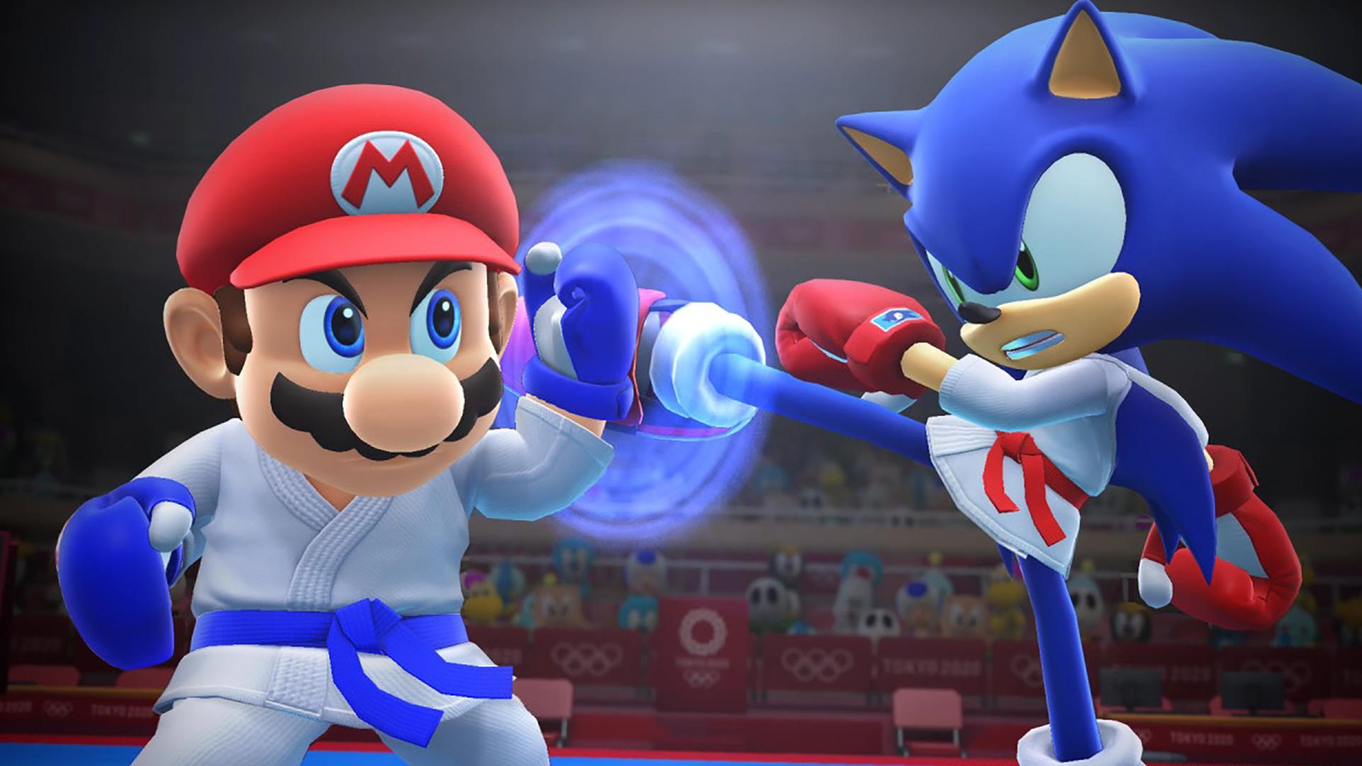 mario and sonic at the olympic games tokyo 2020 bg - Por que Mario foi para frente e Sonic não?