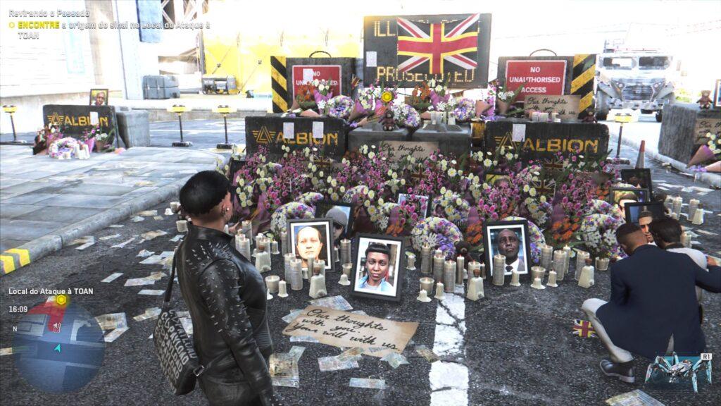 Pessoas morrendo por causa do atentado.